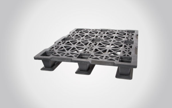 48x40x6 New Export Plastic Pallet w/Runners-In Stock!