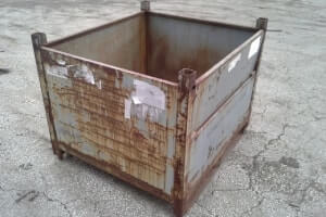 Used Metal Container – 40.5x36x32